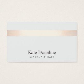 Subtle Rose Gold Striped Modern Stylish Gray