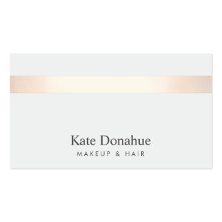 Subtle Rose Gold Striped Modern Stylish Gray Pack Of Standard Business Cards