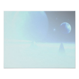 Subtle Sci-Fi Fantasy Spacescape Image Poster