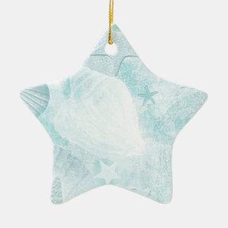 Subtle sea shells Graphic Art Christmas Ornament