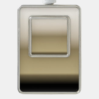Subtle Shades of Beige to Black Silver Plated Framed Ornament