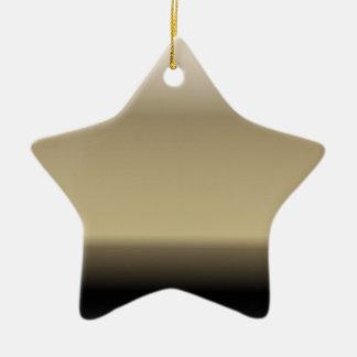 Subtle Shades of Beige to Black Ombre Gradient Ceramic Star Decoration