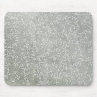 Subtle & Silvery Leafy Vines Mouse Pad