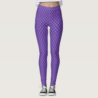 Subtle two toned purple chequerboard leggings