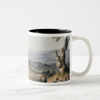 Subugal on the River Coa, engraved by C. Turner Two-Tone Coffee Mug