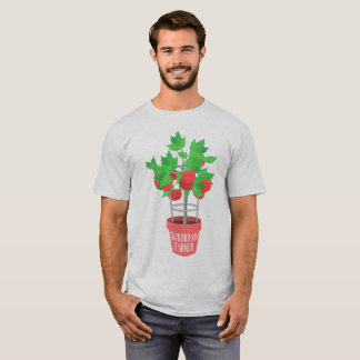 Suburban Farmer-Tomato Plant Growing in a Pot T-Shirt