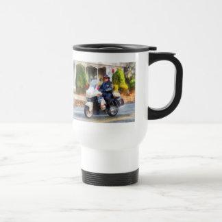 Suburban Motorcycle Cop 15 Oz Stainless Steel Travel Mug