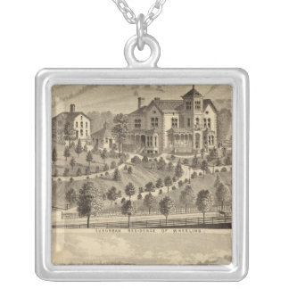 Suburban residence of Wheeling Silver Plated Necklace