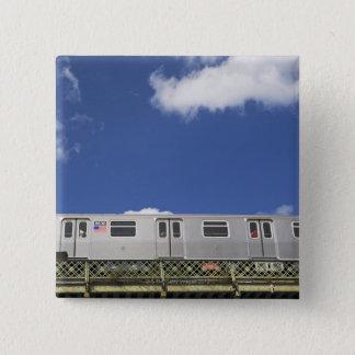 Subway Cars 15 Cm Square Badge