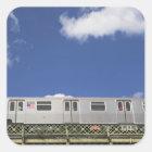 Subway Cars Square Sticker