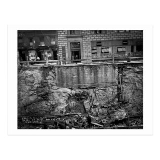 Subway Excavation Seventh Ave and 24-25th Streets Postcard