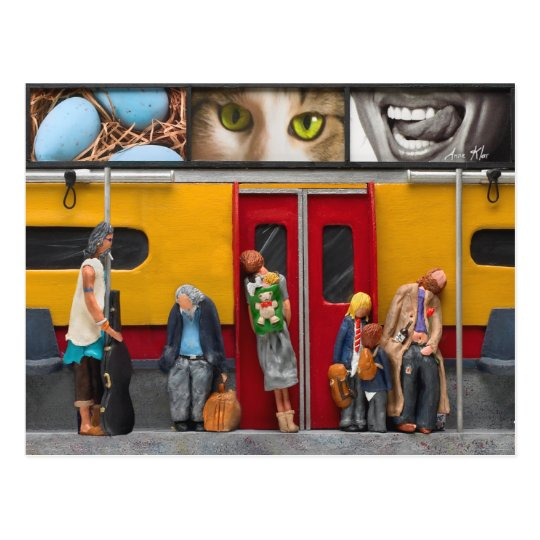 Subway / Lonely Travelers Postcard