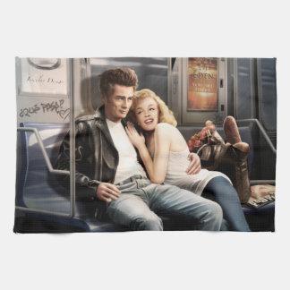 Subway Riders 2 Tea Towel