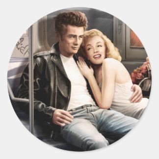 Subway Riders Classic Round Sticker