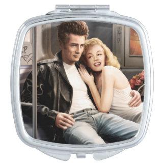 Subway Riders Compact Mirror