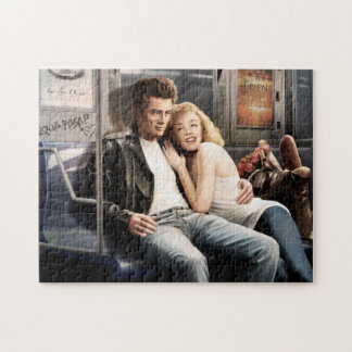 Subway Riders Jigsaw Puzzle