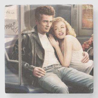 Subway Riders Stone Coaster