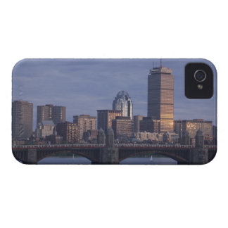 Subway trains on The Longfellow Bridge over The iPhone 4 Cases