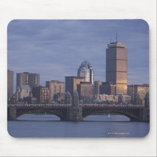 Subway trains on The Longfellow Bridge over The Mouse Pad