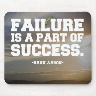 Succes & Failure Quote Mouse Mat