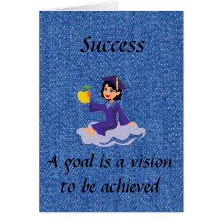 Succes Greeting Card