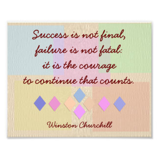 Success and Failure-print Winston Churchill- quote Photo Print