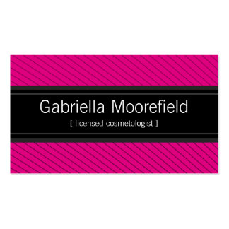 Success Black Pink Cosmetologist Business Cards