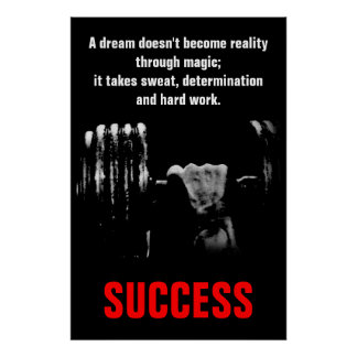 Success Bodybuilding Fitness Inspirational Poster