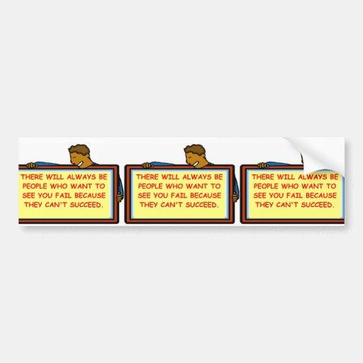 success bumper stickers