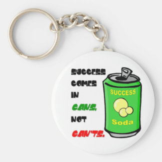 Success Comes in Cansnot Can't Basic Round Button Key Ring