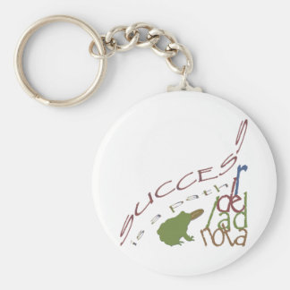 Success is a path basic round button key ring