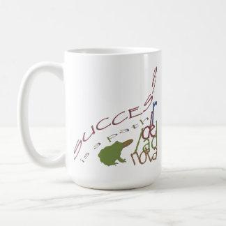 Success is a path basic white mug