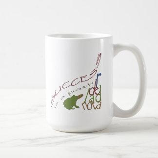 Success is a path coffee mugs