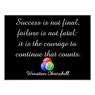 Success is not final - Poster art
