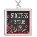 Success Is Yours - 3 Word Quote Necklace