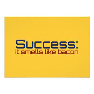 Success It Smells Like Bacon Custom Announcements