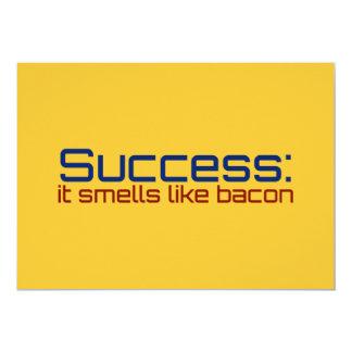Success: It Smells Like Bacon 13 Cm X 18 Cm Invitation Card