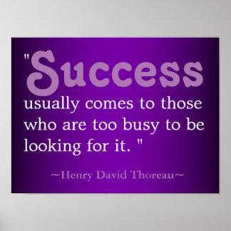 Success Life Quote   Thoreau Poster
