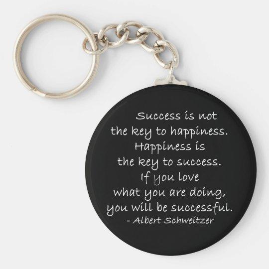 Success Quote Key Chain