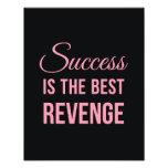 Success Revenge Inspirational Quote Black Pink Photographic Print