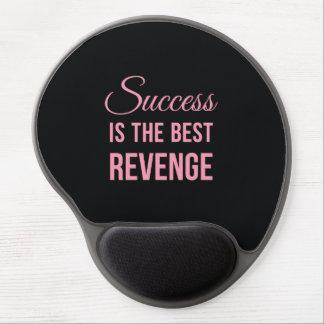 Success Revenge Motivational Quote Black Pink Gel Mouse Mat