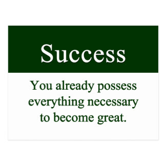 Success starts from within postcard