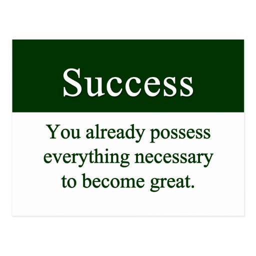 Success starts from within post cards