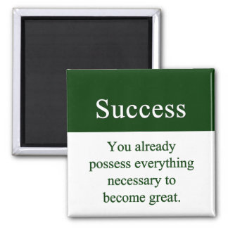 Success starts from within square magnet