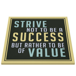 Success & Value Motivational canvas print