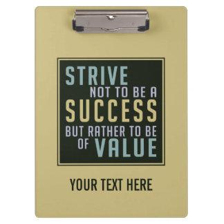 Success & Value Motivational clipboard