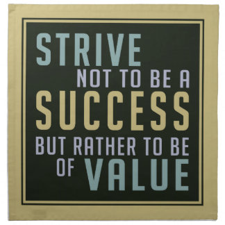 Success & Value Motivational cloth napkins