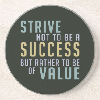 Success & Value Motivational coaster