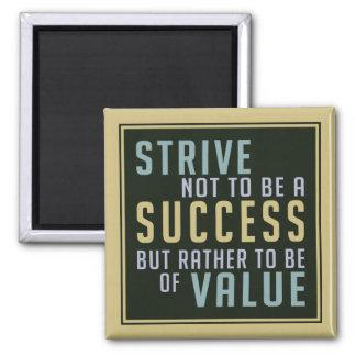 Success Value Motivational magnet