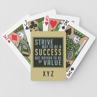 Success & Value Motivational playing cards